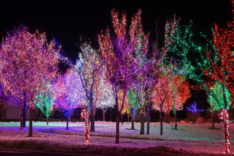 Decorative Christmas Lights Wallpaper