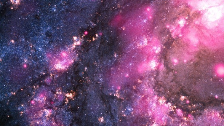 Space in Galaxy Glow