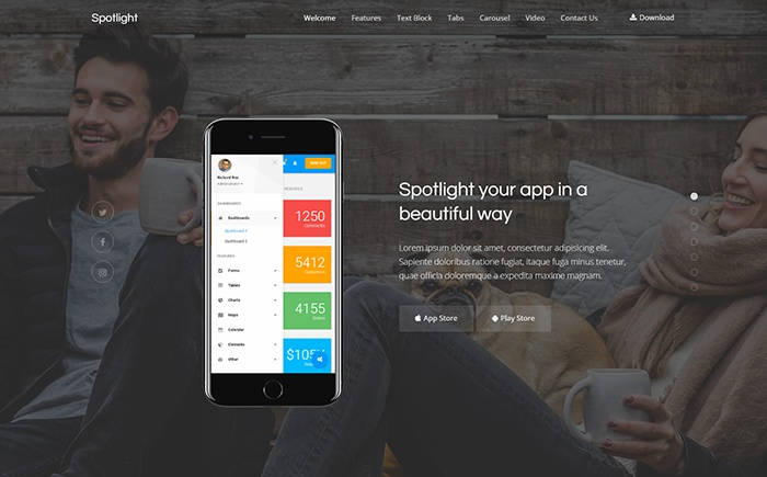 Spotlight - App Landing WordPress Theme