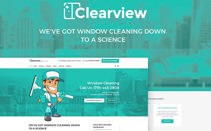 Window Cleaning Services WordPress Theme