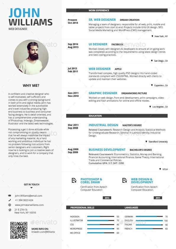 16 single page resume template