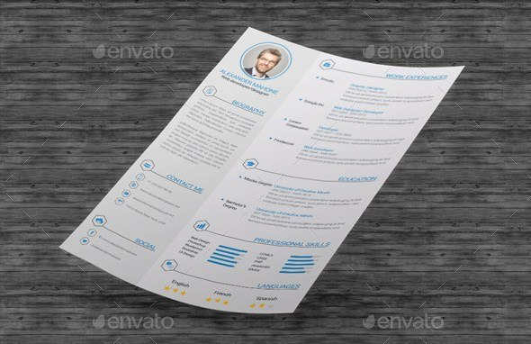 17 resume cover letter psd and word template