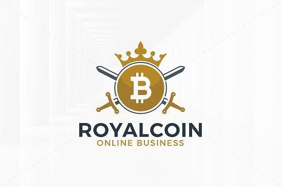 18 royal bitcoin logo template