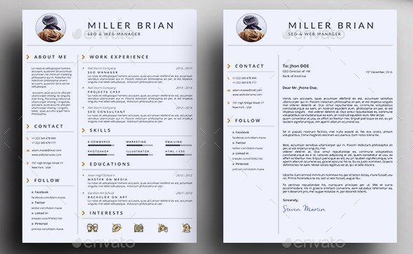 2 clean resume and cover