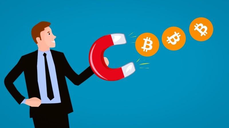 4 earn bitcoin gain cartoon character