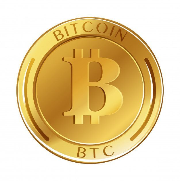 4 golden coin with word bitcoin