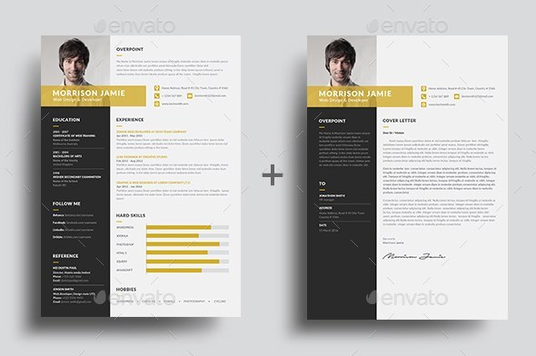6 clean resume easy to customize in word