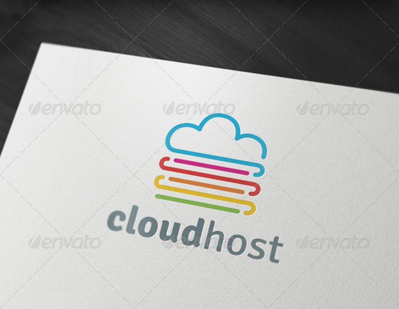 cloud host logo template
