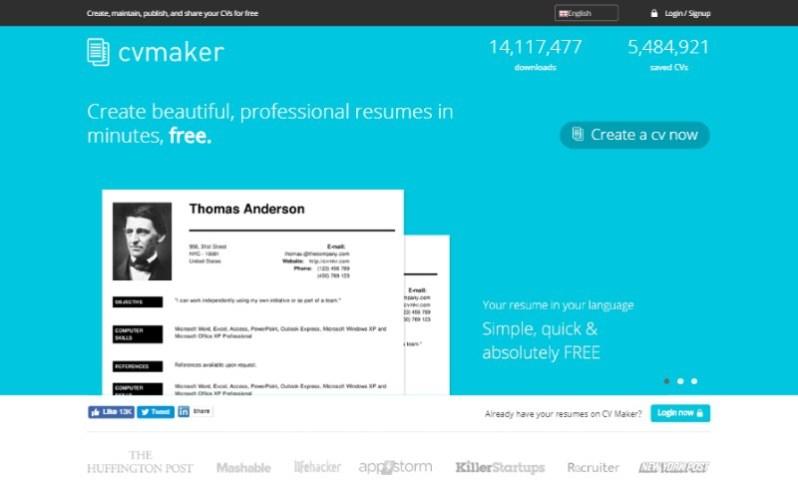8 cvmkr resume cv builder