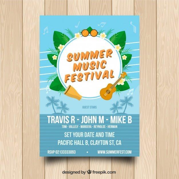 Summer Music Poster Template
