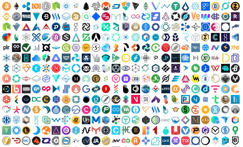 cryptocurrency logos