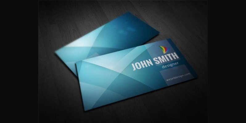 5 Colors Minimal Business Card Template
