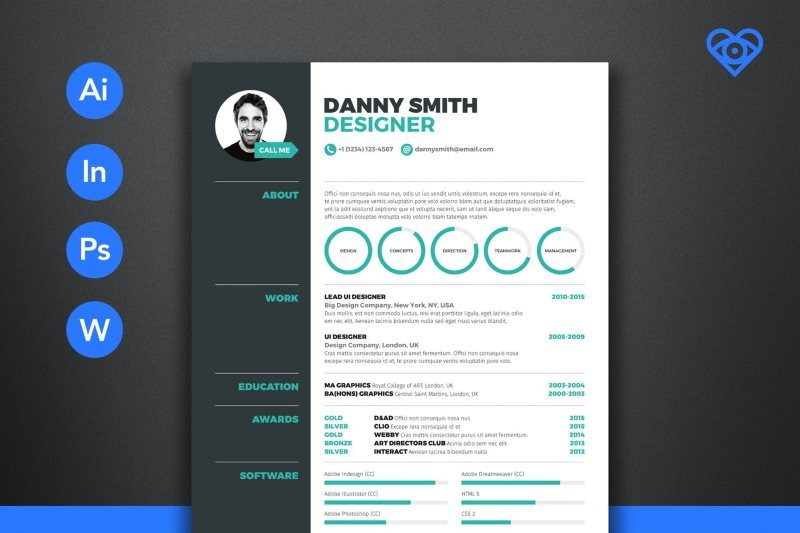 Resume Three Included Five Pages Template Cover Letter