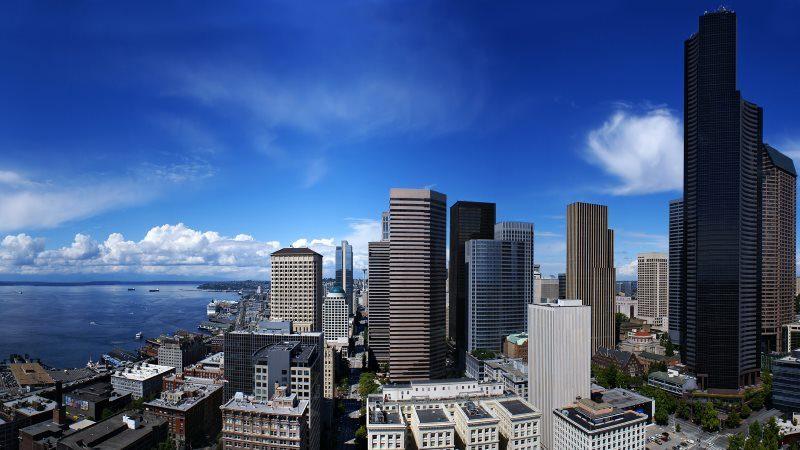 Skyscraper Urban City HD Wallpaper