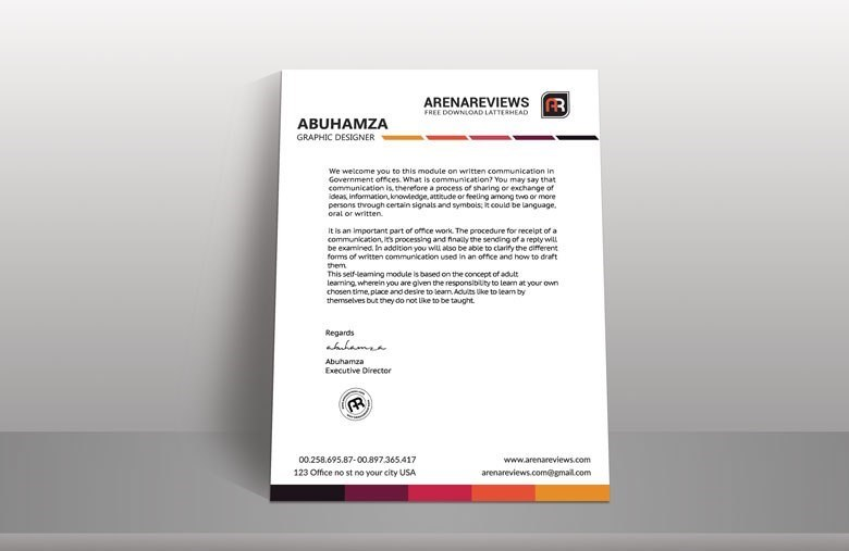Business White Letter Head Template