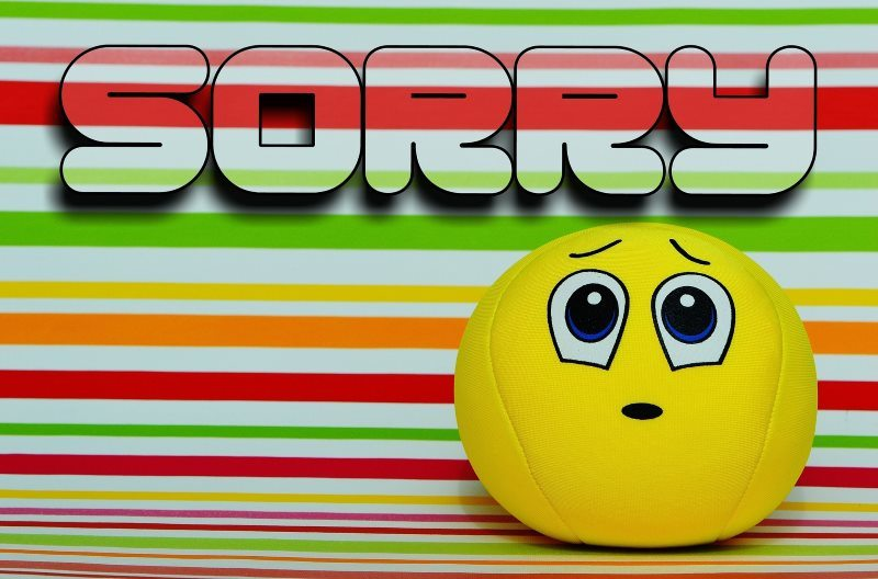 Smiley Sorry Funny Card