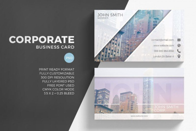 Modern Creative Business Card Photoshop Template