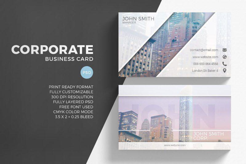 Modern Creative Business Card Photoshop Template