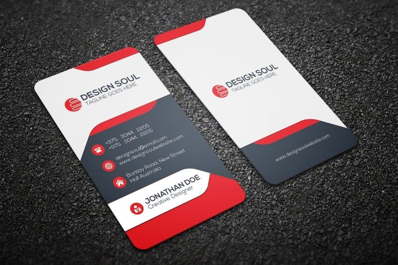 Modern Business Card Portrait Design