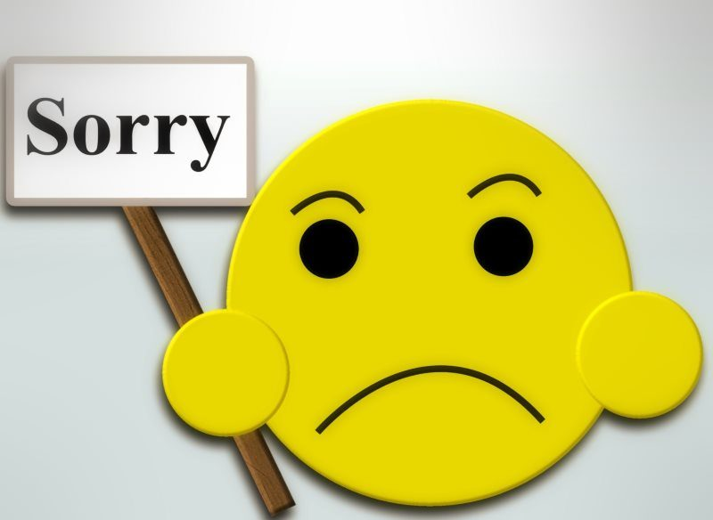 Smiley Sorry Card