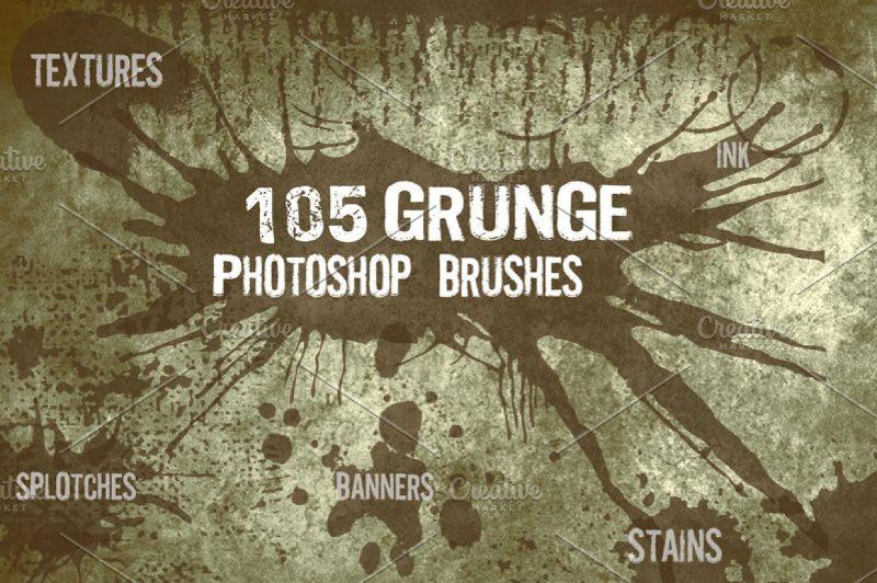 Big Set of Grungy Photoshop Brushes