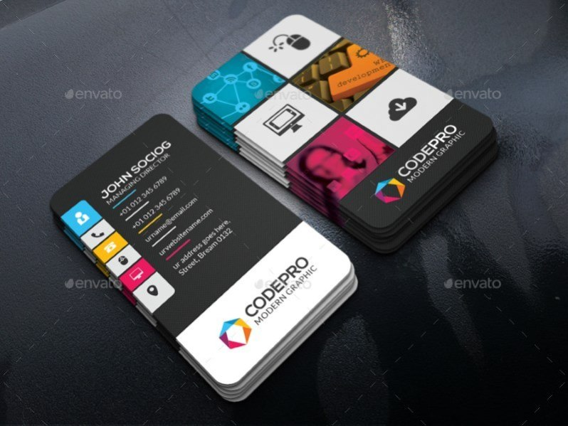 Modern Customizable Business Card
