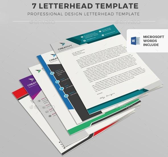 Professional Design Letterhead Template