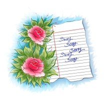 Flower Design Sorry Greeting Card