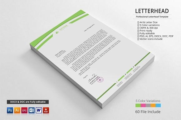 Business and Personal Use Letterhead Template