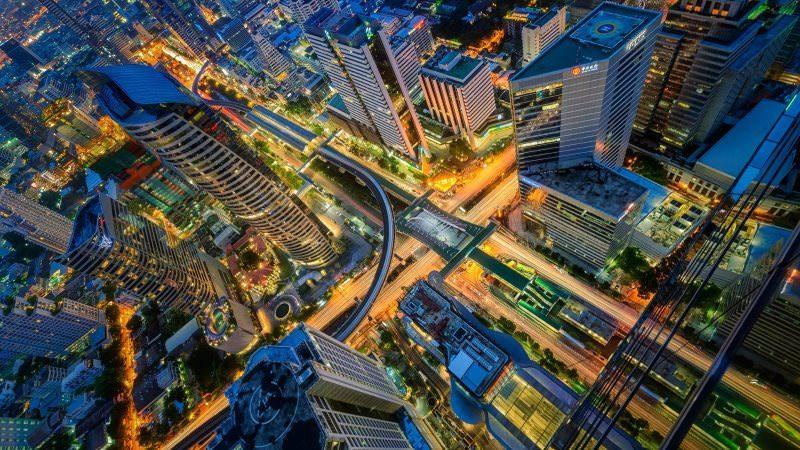 Bangkok Night Urban City Wallpaper