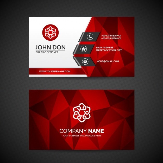 Business Card Polygonal Design Template