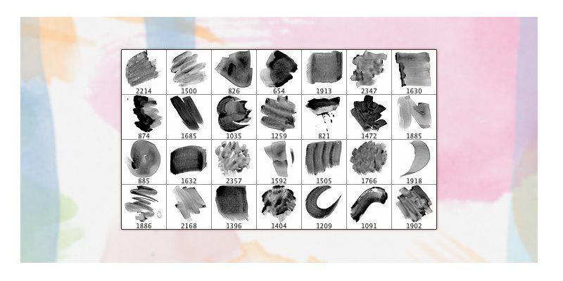 high resolution watercolour brushes