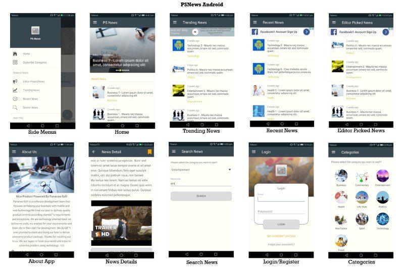 PSNews Multipurpose Android News Application