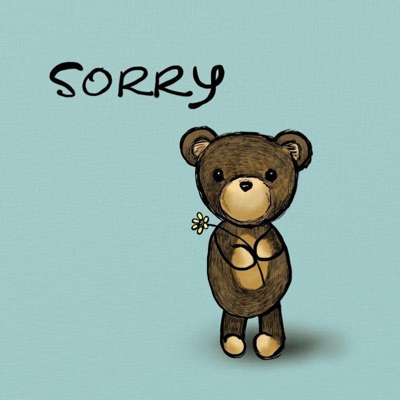 Sorry Teddy Bear Greeting Card