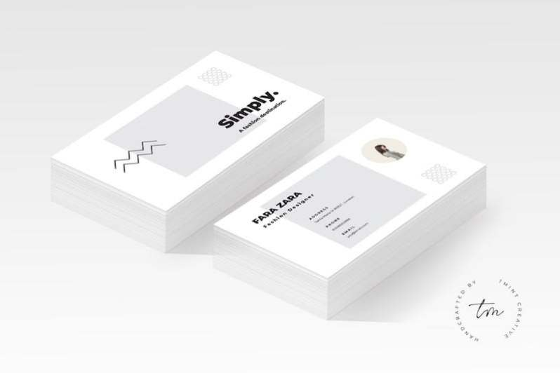 25 modern business card templates psd ai eps download tech minimal business card ai template flashek Gallery