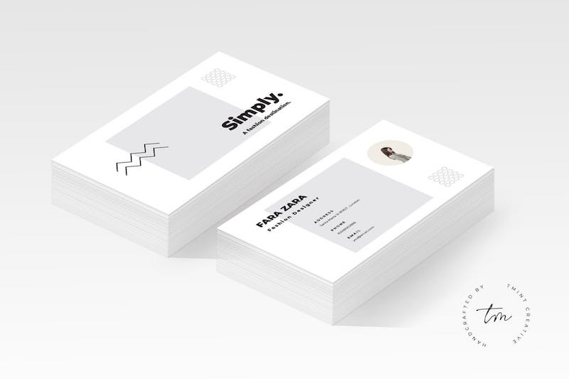 minimal business card ai template
