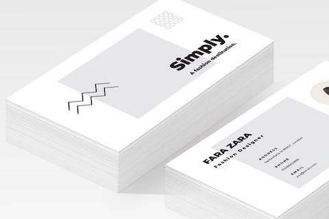 HD Decor Images » 25 Modern Business Card Templates   PSD  AI   EPS Download   Tech     Minimal Business Card AI Template