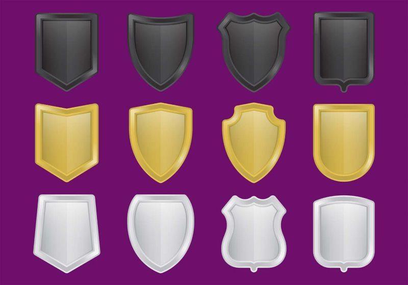 Metal Shield Logo Vectors