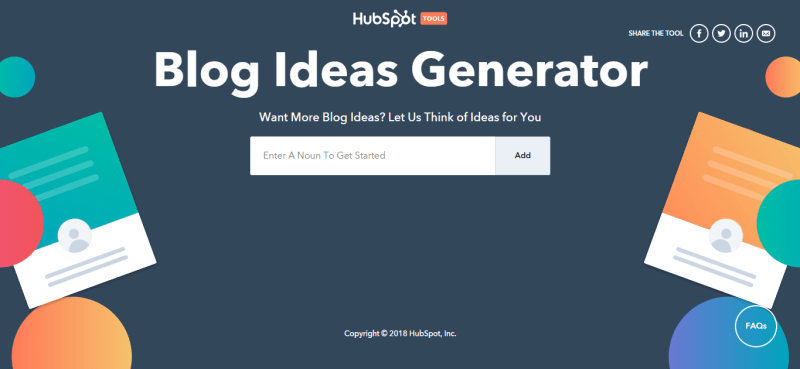 blog ideas generator