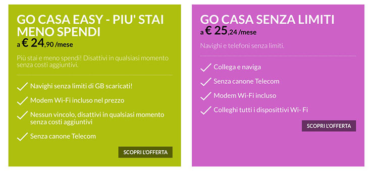 Go Internet: fino a 1Gbps in 4G per le utenze domestiche 1