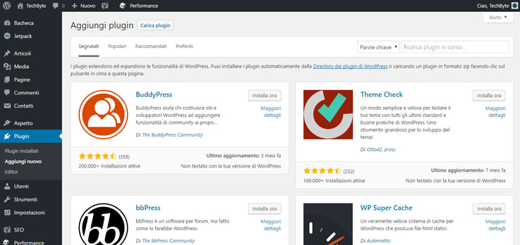 Guida di Wordpress #2: l'interfaccia 12