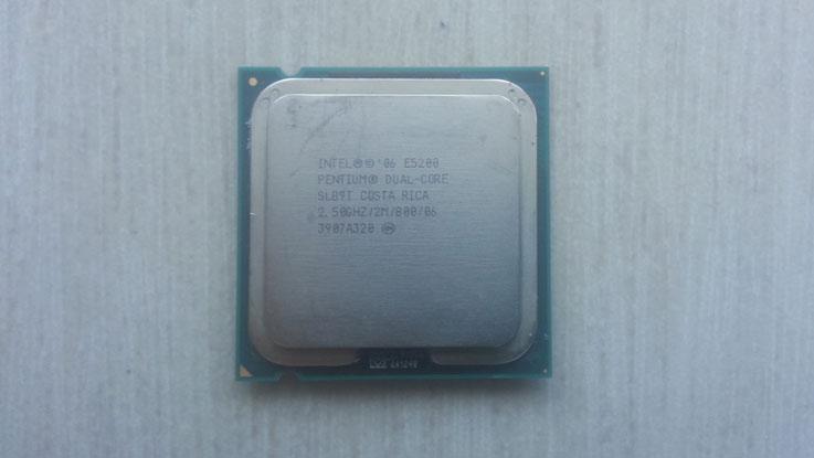 Intel Pentium E5200, vista frontale