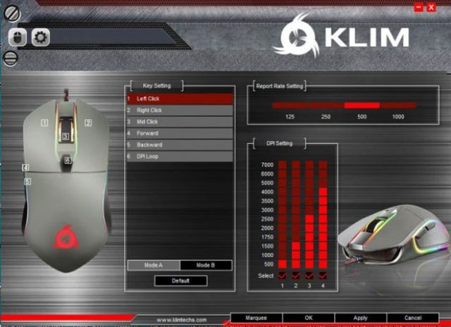 KLIM Aim Gaming Mouse: impostazioni base