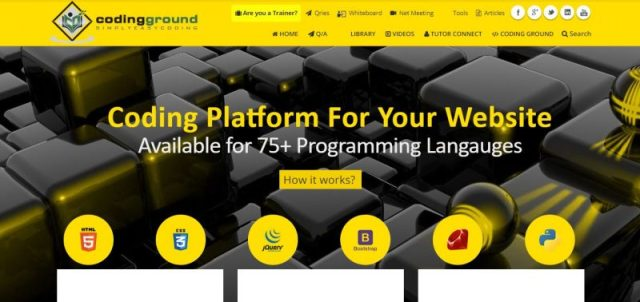 Pagina di Codingground