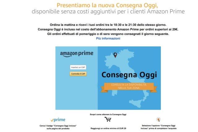 Consegna Oggi di Amazon