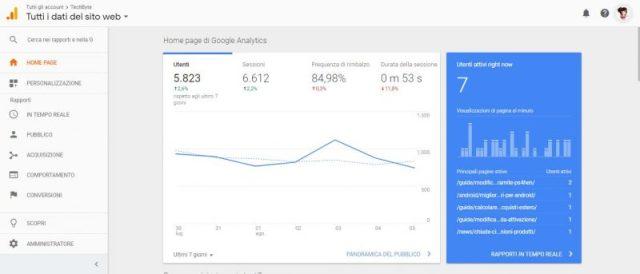 Traffico Google Analytics