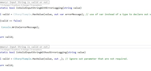 C# 7 out variable