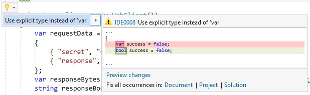 editorconfig VS 2017 - explicit type over var for built-in types - csharp_style_var_for_built_in_types rule