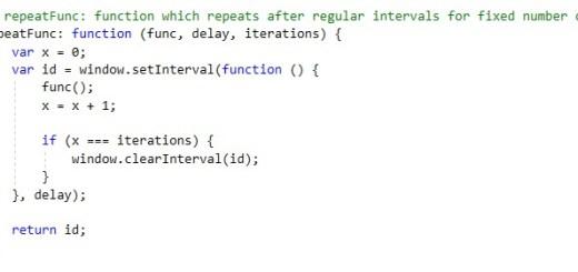 javascript repeat function