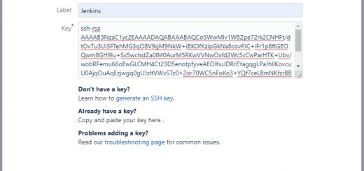 Add public ssh key to bitbucket1